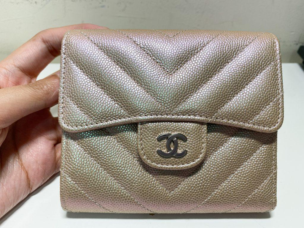 Chanel Light Gold Wallet 17s - preloved