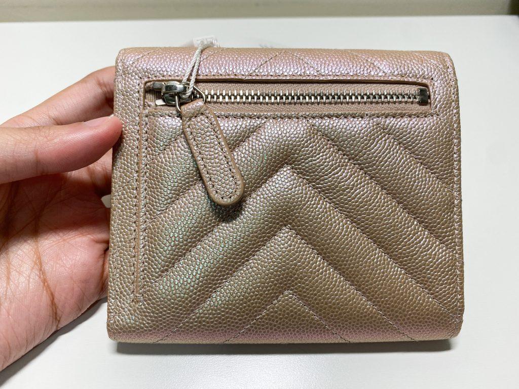 Chanel Light Gold Wallet Back