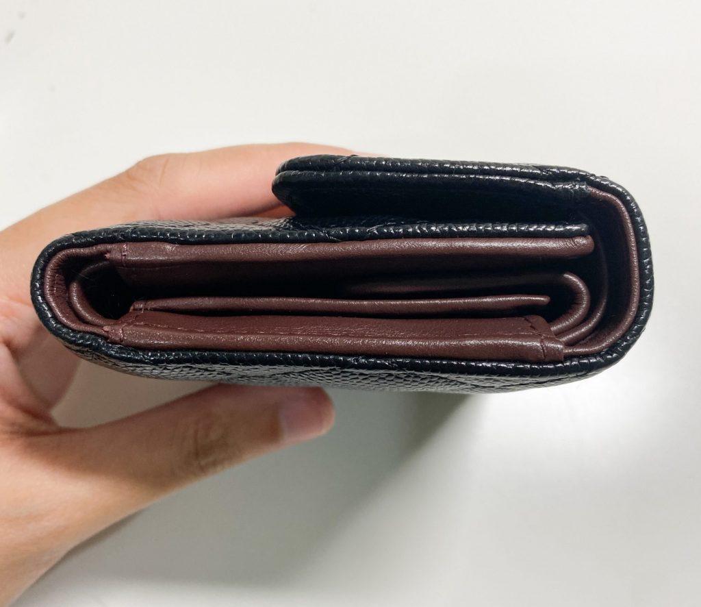 Chanel trifold wallet sideway