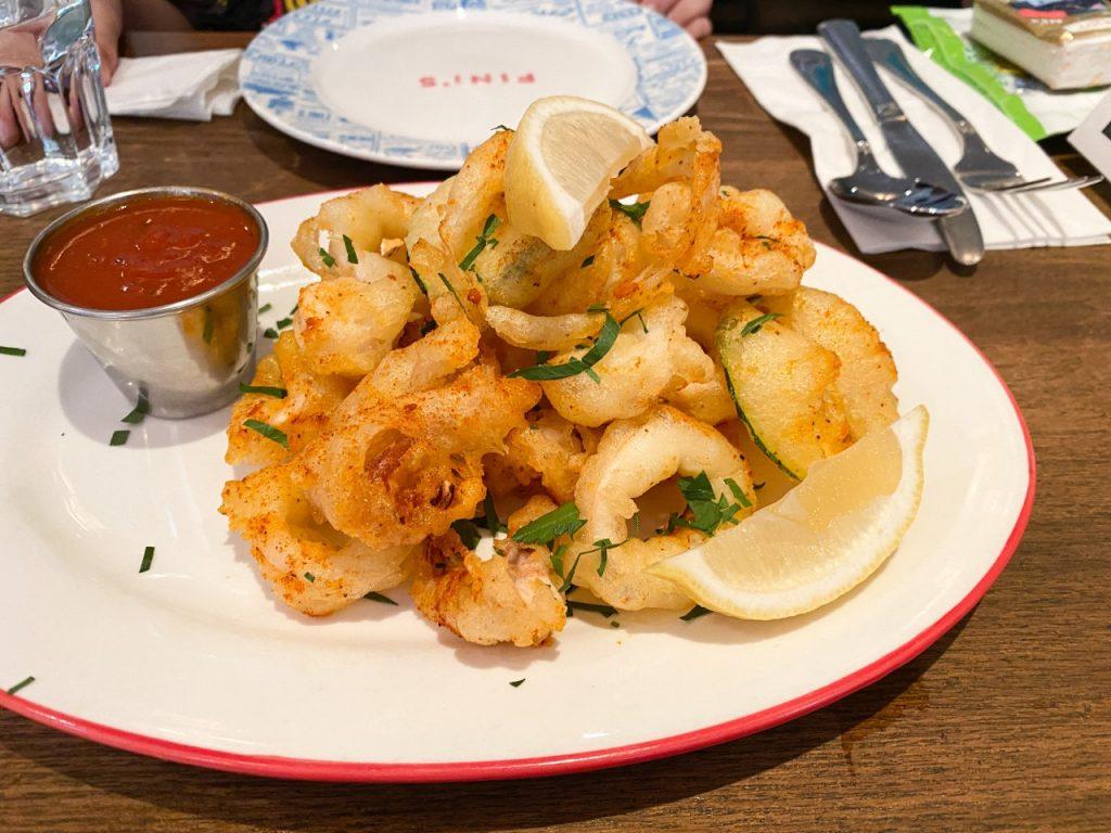Fini's Italian American Restaurant - Seafood Calamari